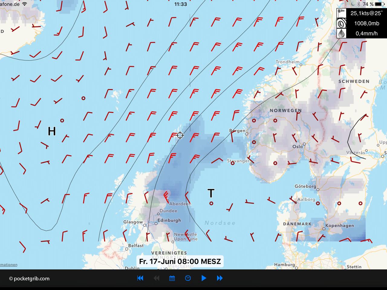 Shetlands Wetterlage 17.06.2016