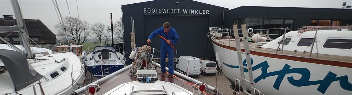 Winterlager auf dre Bootswerft Winkler