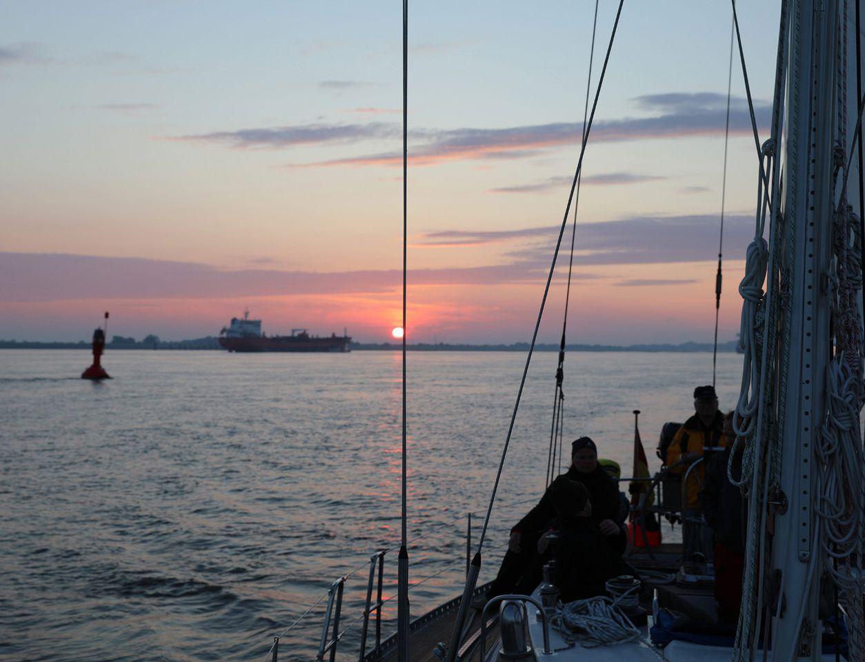 Morgenstimmung auf der Elbe