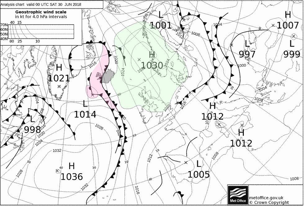Wetterkarte 30.06.2018