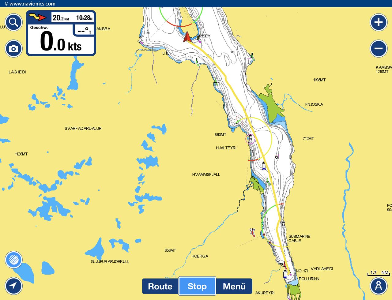 Route Akureyri - Hrisey