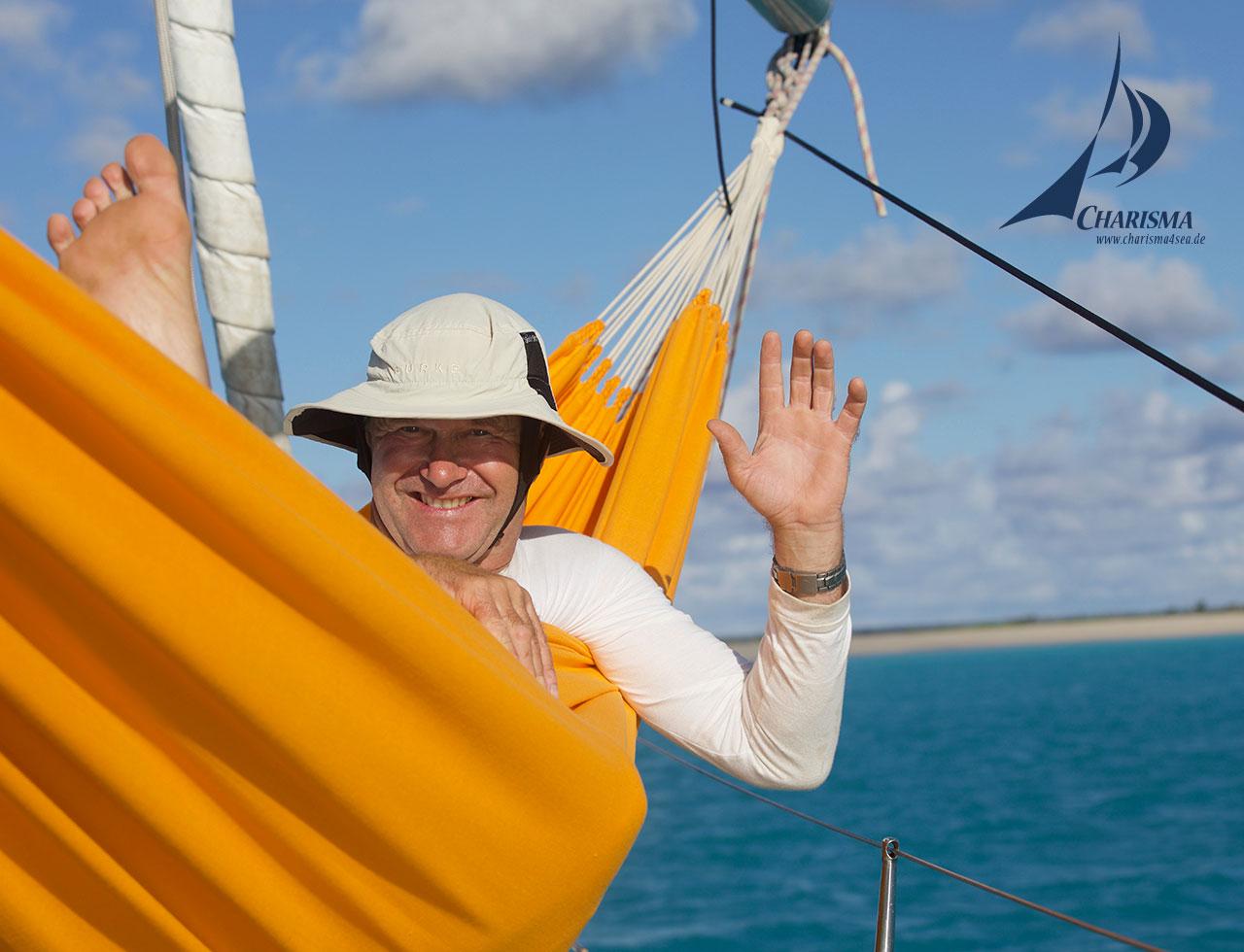 Charisma vor Anker, Barbuda