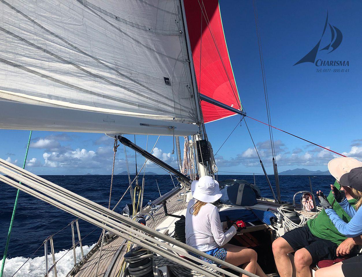 Spi-Segeln in der Karibik
