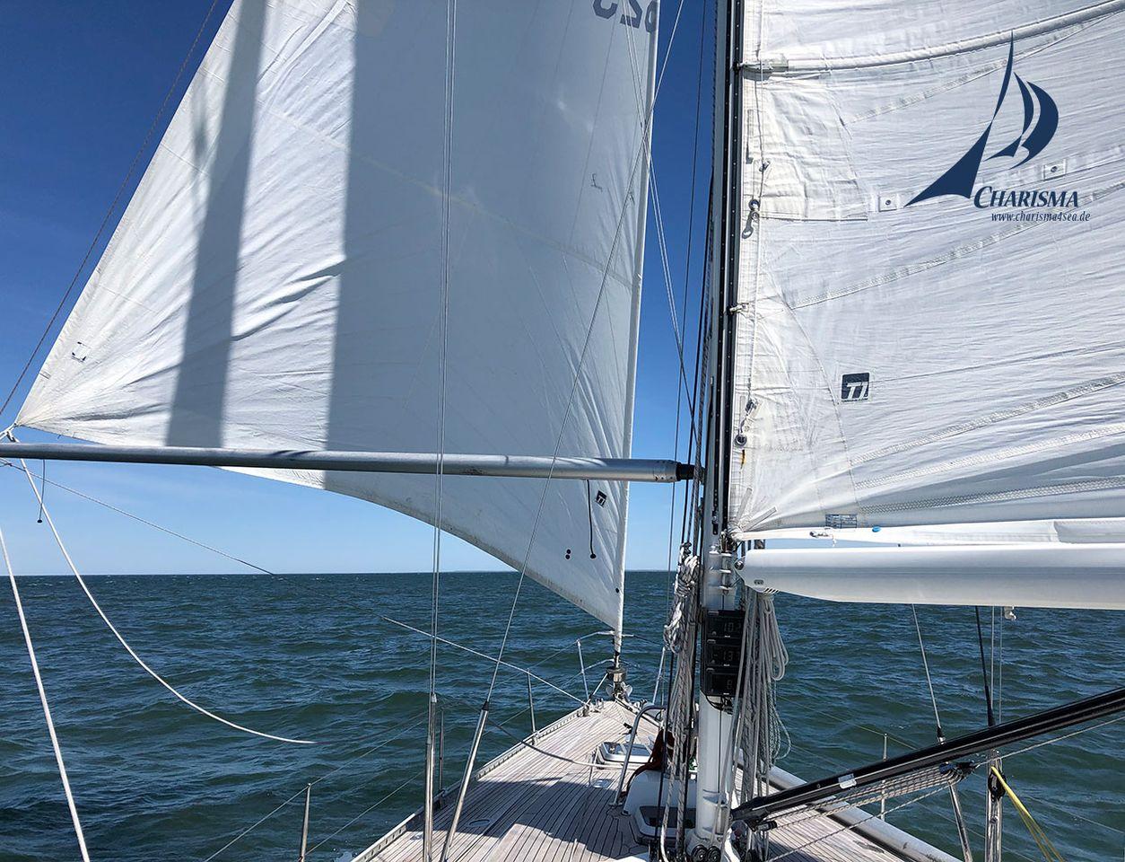 Segelstellung vor dem Wind