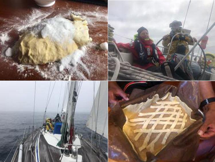 Apfelkuchen auf dem Atlantik