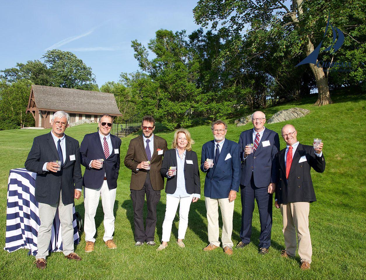CHARISMA-Crew im Ne w York Yacht Club