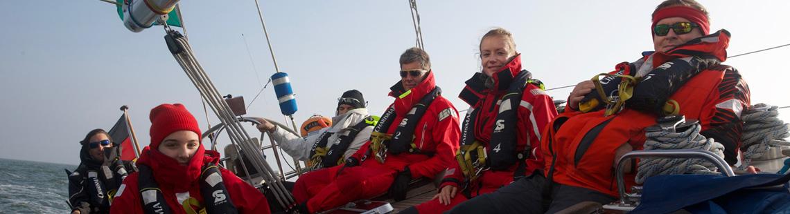 Schwerwettertraining auf der Nordsee