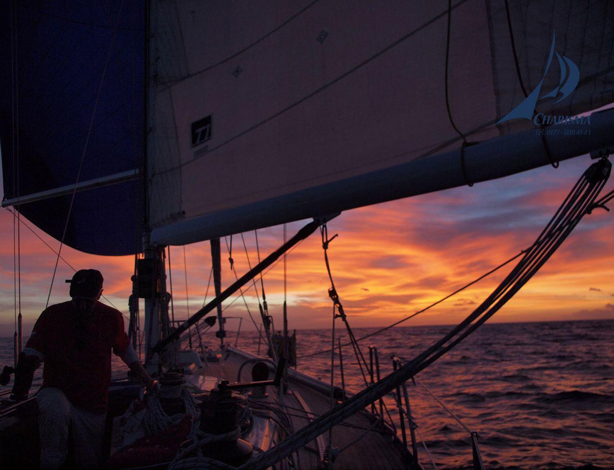 Segeln sonnenuntergang  Segeltörn Virgin Islands & Bahamas segeln mit charisma4sea