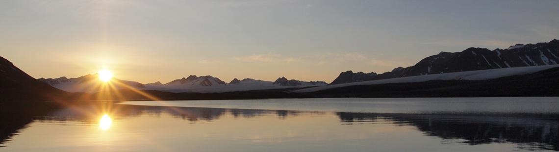 Mitternachtssonne Spitzbergen