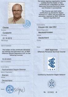 ISAF Qualifikation Constantin Claviez