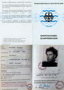 Sporthochseeschifferschein, Michael Orgzey